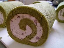 抹茶ロールケーキのイメージ